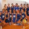 Team Samoa with Noumea Simi after their win against the Cook Islands
