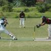 Brian Bell wicket keeper Ipi Morea attemps to stump a Telikom Titans batsman