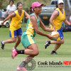 Vaine Ben of the Cook Islands touch rugby team is all smiles on the field. 09092427