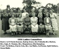 1958 Ladies Committee
