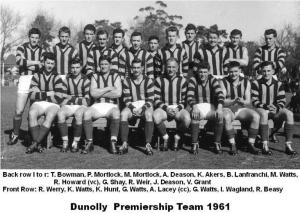 1961 Premiership Team