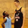 Aaron Daniel and NBL player