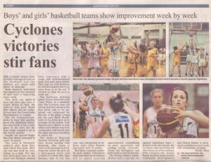 Noosa Cyclones newspaper article
