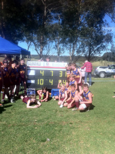 U12s 2012 Premiership Team and Scoreboard