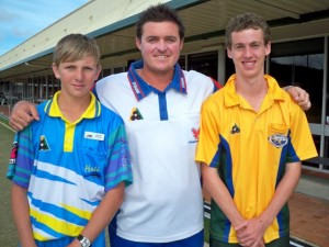 (L to R) Mitchell McDonnell(Hali), Aron Sherriff and Brad McIntyre(Avo) at the BCC Zone 15  U18's Championships 2013