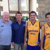 Danny O'Connor president of the BIC with Coach David Ruddock and players Jarrod Ruddock and Jayden Kelly