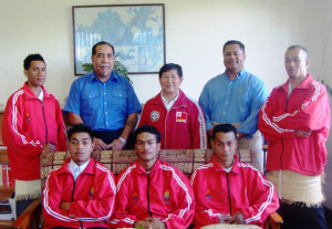 TNTA President with Team Tonga 2011