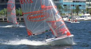 Alistair & Clare Murray power up before the leeward mark