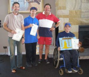 Access 2.3 Winners - Andrew Cook, Cadeyrn Gaskin & Duncan MacGregor with Access Class State Delegate Charles Weatherly