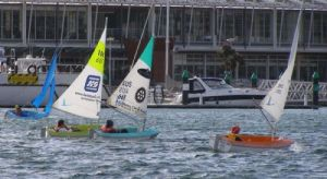 The Access 2.3 fleet heads upwind in the gusty conditions