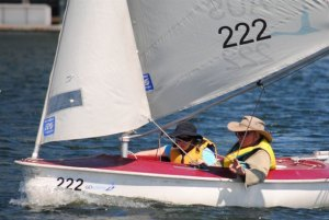 Sarah Millson & Roy Jewell - Short Course Racing at Docklands Yacht Club, February 2013
