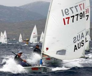 Bethwaite at 2004 Laser Grand Masters