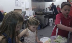 Foreshore Dinner - All the little helpers