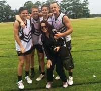 Port Macquarie president and Craig Carroll  couldn't have been any prouder than he was on the day he played alongside his three sons Liam, Lewis and Fraser. The smile on on Mum, Cec, was just as big as Dad's.