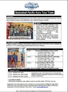 Koru Tour Trials Flyer 2018