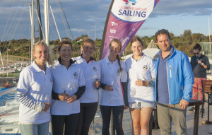 Tess Lloyd (l) with SSCBC Team Commodore's Challenge 2017_credit Jack Fullerton