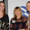 YV President Cherry Birch with Female Sailors of the Year Ella Grimshaw and Laura Harding
